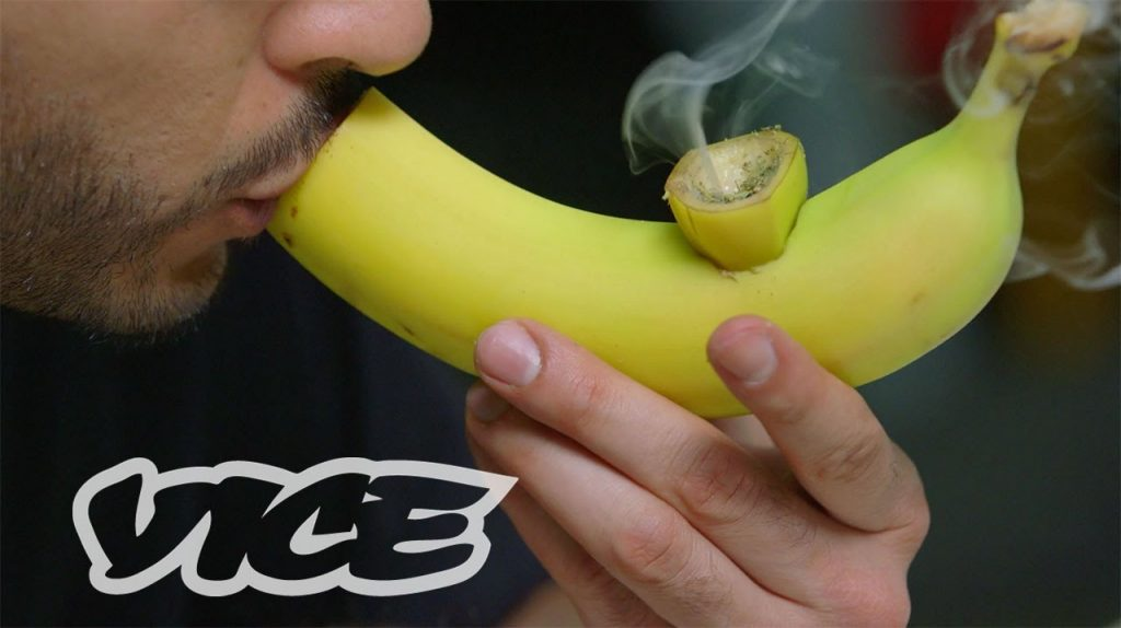 smoke weed out of a banana