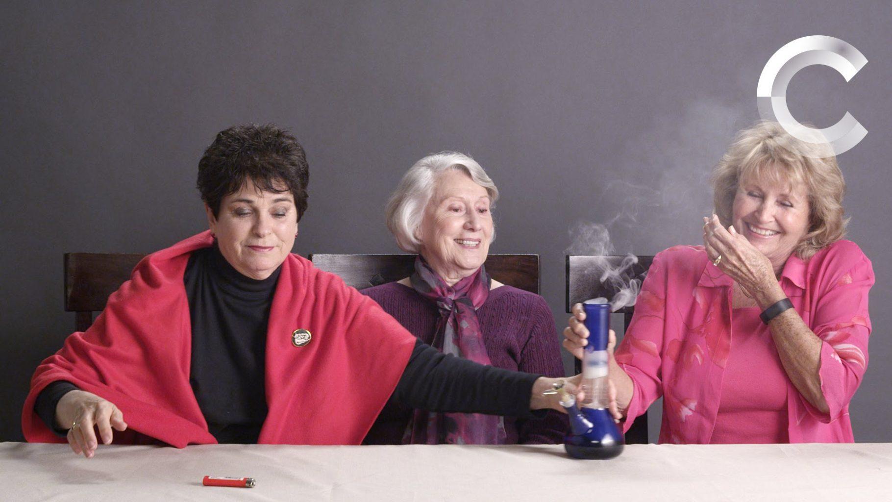 Senior Citizens Getting Stoned