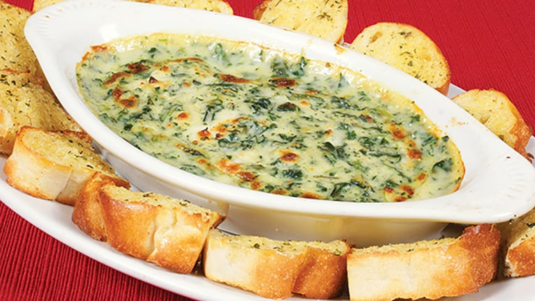 cannabis infused spinach dip