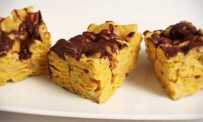Cannabis Infused Chocolate Peanut Butter Cereal Bars