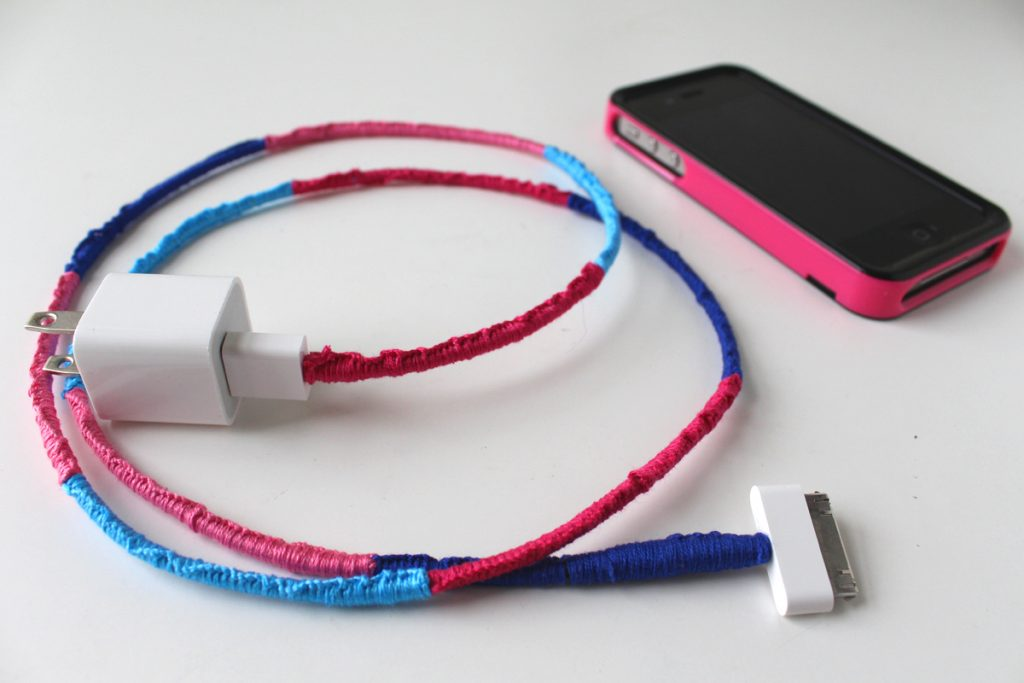 BY ERICA SOOTER DIY TUTORIALSFEBRUARY 17, 2016 DIY WRAPPED CHARGER CORD