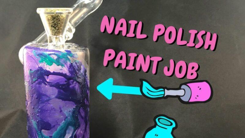 DIY:  Nail Polish Bong – How to Decorate