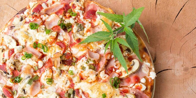 Marijuana Pizza with a Cannabis Olive Oil Infusion