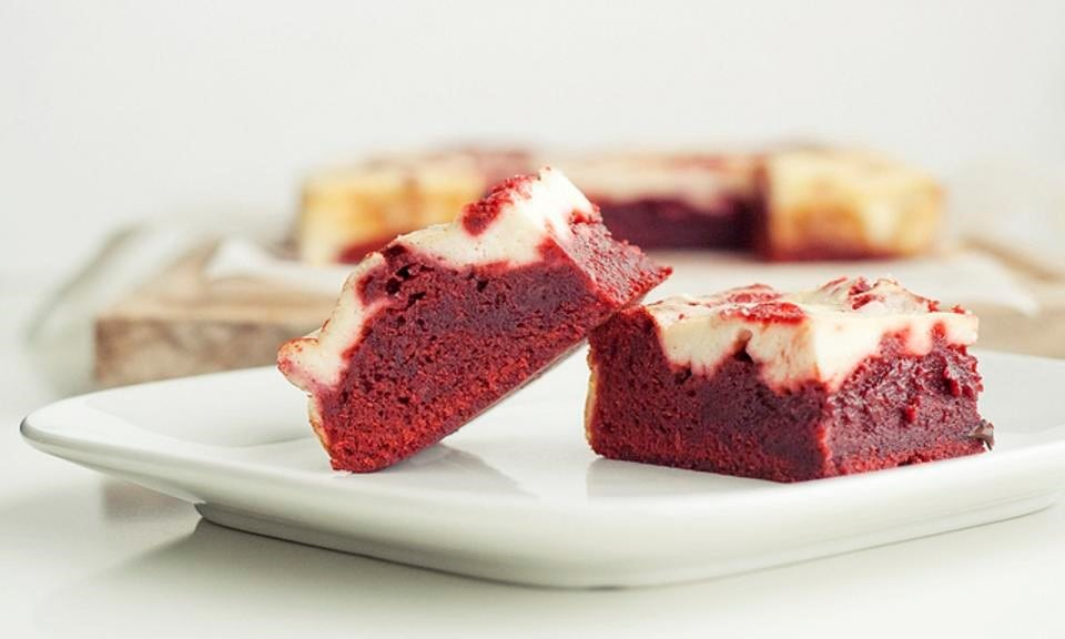 Cannabis Red Velvet Bars Cream Cheese Icing