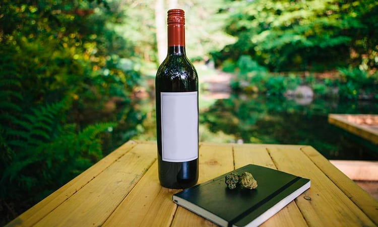 cannabis infused wine