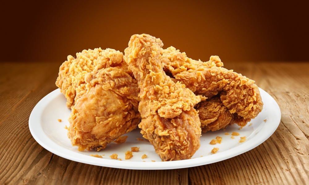 fried chicken with canna oil