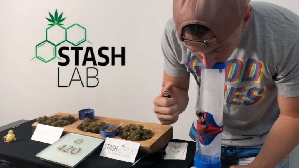 Ellevan Hits an Ice Bong and Other Weed Gadgets from Stash Lab Technologies