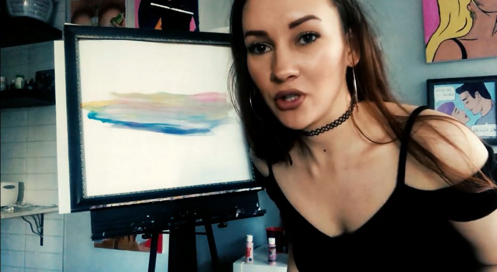 Painting Mustard Clouds with Boob Ross