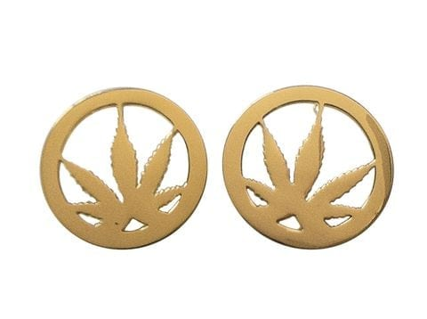 weed earrings for women