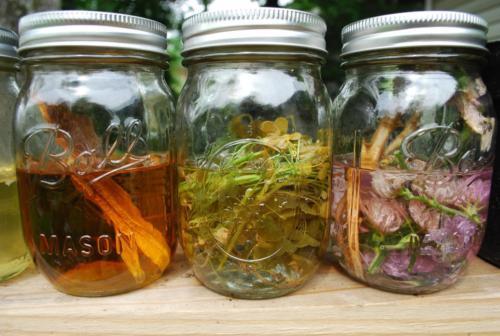 Liquid jar of marijuana