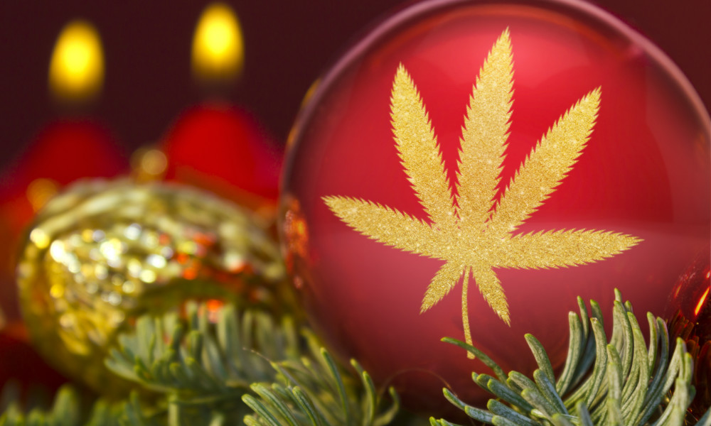 Cannabis christmas decorations